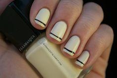 White & Black Nails