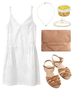"""Pineapple Pimms"" by sophiehackett ❤ liked on Polyvore featuring Organic by John Patrick, Pieces, Bass and ASOS"
