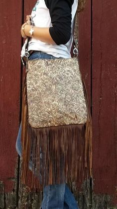 Crochet Sling Bags XLG Crossbody Sling, Western Floral Cream and Brown Fringe Purse, Fringe Bags, Fashion Handbags, Purses And Handbags, Cheap Handbags, Luxury Handbags, Popular Handbags, Fashion Purses, Unique Handbags