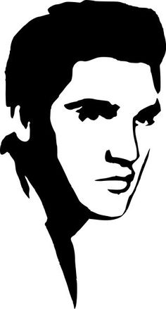 An Elvis Presley stencil, made with black spray paint. Silhouette Vinyl, Silhouette Projects, Silhouette Design, Elvis Presley, Stencil Art, Stencils, Scroll Saw Patterns, Arte Pop, Pyrography
