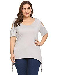 New Involand Women's Plus Size Cold-Shoulder Tops Short Sleeve O-Neck Casual T Shirts online. Find the perfect It's Your Day Clothing Tops-Tees from top store. Sku QMOY94744CQJU63925