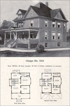 Queen Anne Victorian House Plans Beautiful 1908 William A Radford Plan No 7054 Queen Anne Free Victorian House Plans, Old Victorian Homes, Vintage House Plans, Vintage Homes, Victorian Houses, The Plan, How To Plan, House Plans Uk, House Floor Plans