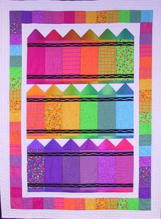 Crayons, a colorful crib quilt