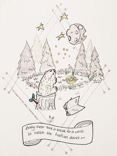 Illustration for #inktober Inktober, Starry Night, Inspiration, Creative, Digital Scrapbooking, Illustration Art, Starry, Art