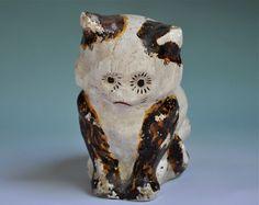 Antique Chalkware Cat