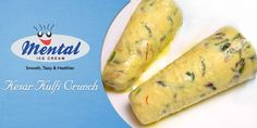 Mental Kesar Kulfi Crunch, Smooth flavoured kulfi swirled with almonds and nuts, the perfect treat for when you get home.