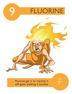 112 Cartoon Elements Make Learning The Periodic Table Fun. helps visual learners.