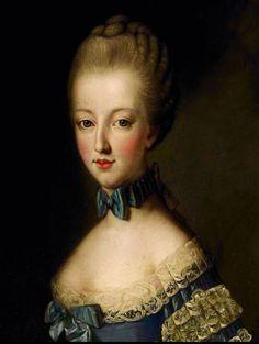 Portrait de Marie Antoinette d'Autriche, reine de France, vers 1769 attribué à Jean-Baptiste Charpentier, d'après Joseph Ducreux