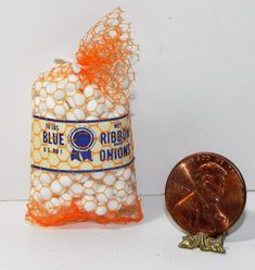 Dollhouse Miniature Bag of Onions Multi Minis 1:12 Scale #MultiMinis