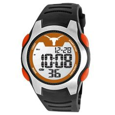 Game Time Men's COL-TRC-TEX Univ of Texas Watch Game Time. $49.95. Tough, durable, impact resistant polycarbonate case construction and pushers,. Limited lifetime warranty.. Durable mineral glass crystal protects watch from impact and scratches, and a. Solid 5-feature liquid crystal display (lcd) digital movement with easy set function-time (hour, minute, second), calendar (month, date, year), 1/100 chronograph stop watch, dual alarm, el backlight,. High quality syntheti...