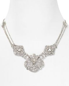 """Carolee Extendable Necklace with Deco Design, 17""""  Bloomingdale's"""