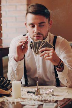 Getsby wedding style, groom