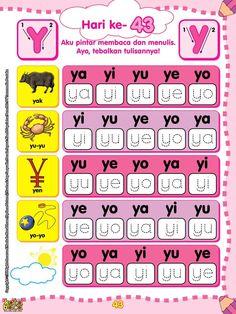 belajar membaca & menulis anak TK/SD, menyusun kata