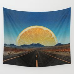 """Lemonade Road"" Wall Tapestry by Janja Primozic"