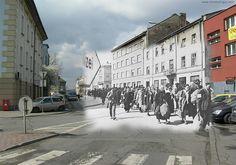 Cracow Ghetto Poland - then and now.
