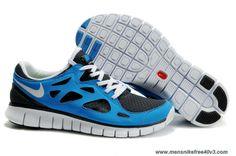 443815-104 Nike Free Run 2 Blue Black White Womens Online