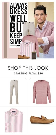 """Men's Fashion - PINK!"" by colierollers ❤ liked on Polyvore featuring Marks & Spencer, Incotex, Polo Ralph Lauren, Tomas Maier, men's fashion and menswear"