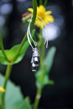 Bali Silver Sterling Silver and Hematite by KarmaKittyJewelry