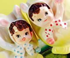 Good luck? With bunnies? A boy and a girl bunny? In new baby pink and blue? What's that about?