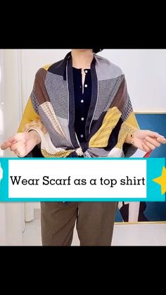 Ways To Tie Scarves, Ways To Wear A Scarf, How To Wear Scarves, Scarf Wearing Styles, Scarf Styles, Diy Fashion Hacks, Diy Scarf, Casual Outfits, Fashion Outfits