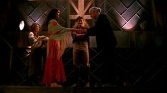 Inara meeting Shepard Book for the first time.