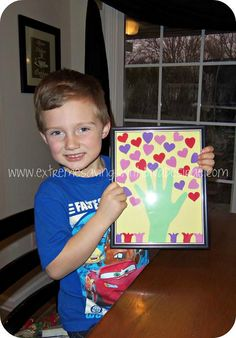 Cheap & Easy kids Valentines craft. - Great gift for her Grandparents!