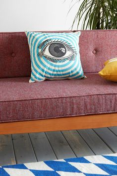 Spitfire Girl Seeing Eye Pillow #urbanoutfitters