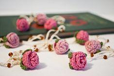 crochet rosebud necklace #crochet #indie #handmade