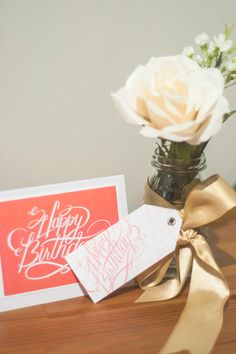 'Happy Birthday' print available for download on the blog! Happy Birthday Calligraphy, Tableware, Blog, Dinnerware, Dishes