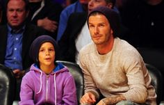 David Beckham Spends Some Quality Time With His Mini Me Romeo at the L.A. Lakers Game!