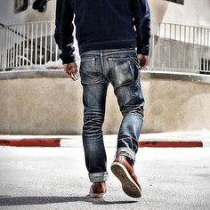 "Reposting @robindenim: ... ""Nicely faded Tulp Jeans  @yonagrinberg"" Denim jeans selvedge pant indigo"