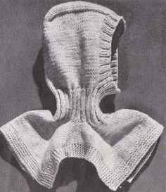 Knit Ski Helmet Hood Pattern #B-244 Knitting Pattern Men Women pdf
