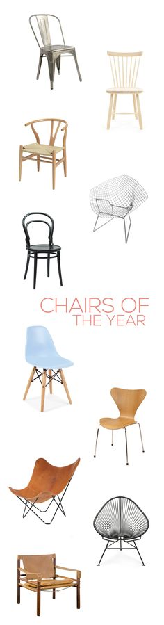 Chairs of the year - These are the most important chairs of 2015 - If you want to know what are their names, creators, history and see some examples of combination, let's go! - by The Creative Jungle