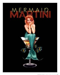Today is national dry martini day.  Love this poster.