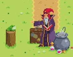 On instagram by pixel.artwork #8bits #microhobbit (o) http://ift.tt/1oECUzs Wizard by Bandygrass @pixeljoint #pixelart #pixel #wizard #indie