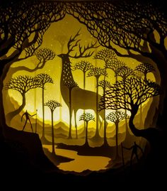 Fascinating Backlit Paper Sculptures by Hari and Deepti