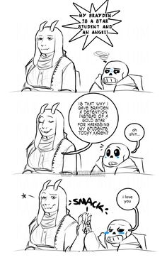"""kawee-chan: """" yeah karen fuck you… OHHH maaan has this been sitting here forever back when that PTA au was booming back in December. I fckn love PTA Sans but i also think Teacher/PTA Toriel would be just as a fed up with all these Lindas, Helens, and..."""