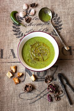 Gazpacho Verde -- it's like a green smoothie soup!