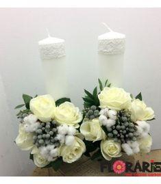 Lumanari nunta scurte bumbac si brunia Terraria, Pillar Candles, Wedding, First Holy Communion, Valentines Day Weddings, Terrariums, Weddings, Marriage, Candles