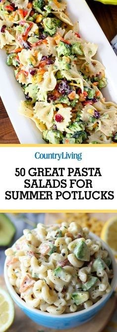 Dont forget to save these delicious pasta salad recipes. For more tasty recipes, follow Country Living Magazine on Pinterest.