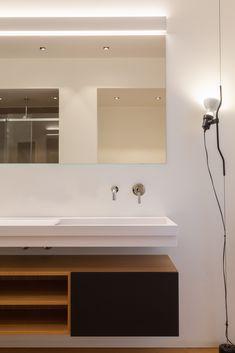 Bathroom Lighting, Bathtub, Mirror, Design, Furniture, Bathrooms, Home Decor, Modern Bathrooms, Trough Sink