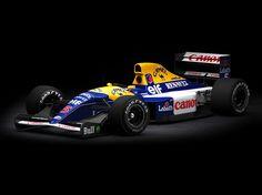 Google+Williams/Renault FW14B, 1992. Um dos melhores carros da história da Fórmula 1. O carro que o Ayrton Senna dizia ser de outro planeta. Foi o começo do uso da Suspensão Ativa. Todos ficavam boquiabertos com a Willians FW14B subindo e descendo nos boxes, a gosto da sua suspensão. Como o carro era muito baixo, praticamente colado no asfalto, a nova suspensão anularia todas as imperfeições do piso, fazendo ele voar em curvas e retas devido sua grande eficiência aerodinâmica.
