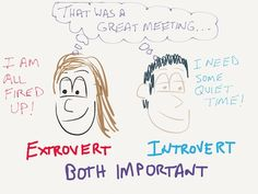 Extroverts and Introverts both important to interaction