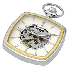 Charles-Hubert, Paris Two-Tone Open Face Mechanical Pocket Watch Charles-Hubert, Paris. $72.00. 14k gold-plated two-tone brass 46mm open face case with a matching curb chain. White skeleton dial. 17 jewel mechanical movement. Deluxe gift box. Save 31% Off!