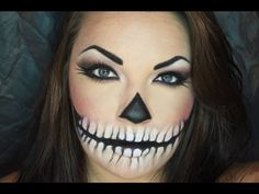 Calavera Sexy/Sexy Skull Halloween Makeup Turorial (EASY) - YouTube