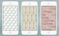 West Elm - Chasing Paper Pattern Mobile Wallpaper Download