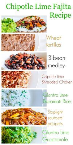 Super healthy high fiber Chipotle Lime Fajitas Recipe