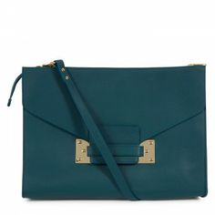 Sophie Hulme - Grained leather envelope clutch