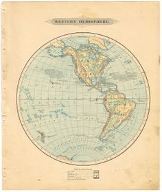 Antique Graphics Wednesday - 1900's Maps of the World & ALL 50 States