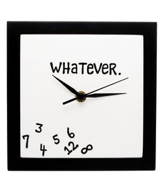 Another clock I'd love to have on my bedroom wall. I like the black and white a little better than the color of the previous one.